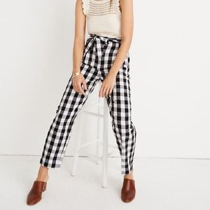 Madewell Paperbag Pants in Gingham